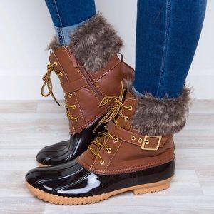 🆕PREORDER Dylan | Fur Trim Duck Boots